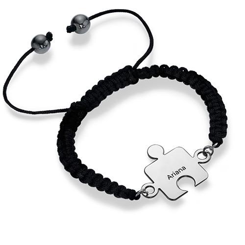 Best Friends Puzzle Bracelet in Silver - 2
