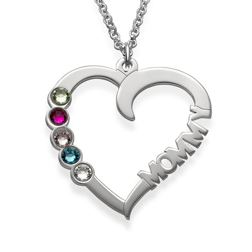 Birthstone Heart Necklace - My Everlasting Love Collection
