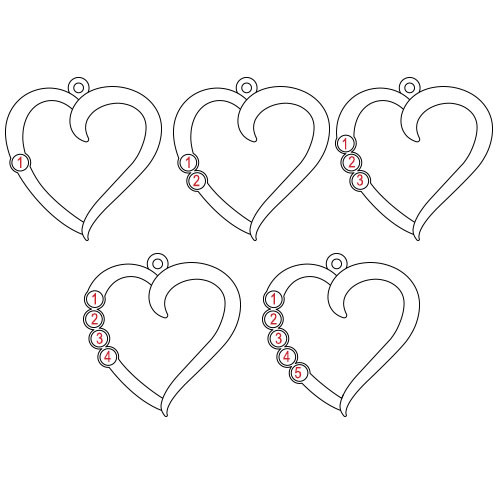 Birthstone Heart Necklace - My Everlasting Love Collection - 1