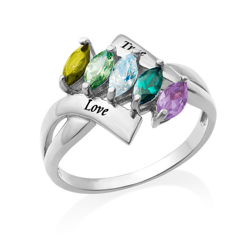 Birthstone Ring for Mum