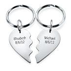 Breakable Heart Keychain in Sterling Silver