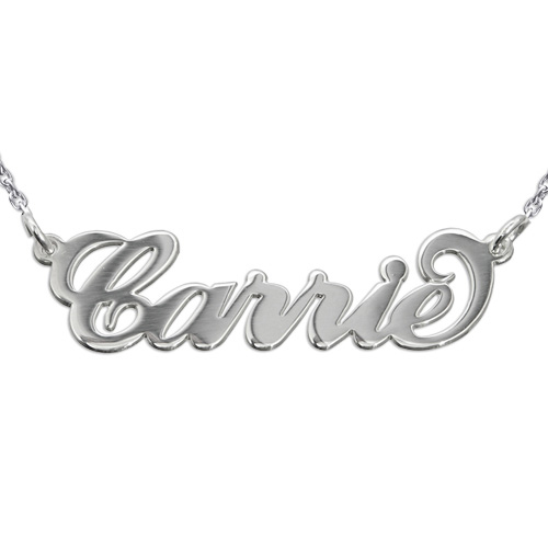 Carrie Name Necklace with Rollo Chain