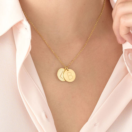 Charm Necklace with Initials in 18ct - 3