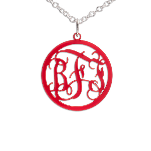 Circle Monogram colour Necklace