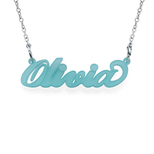 "Classic ""Carrie"" Style Colour Name Necklace - 1"