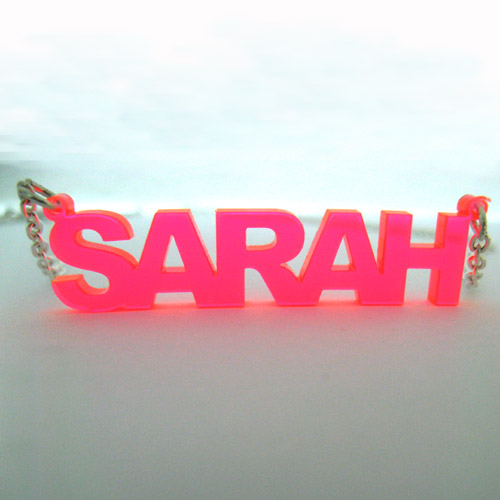 Stylish Colour Name Plated Necklace - 2