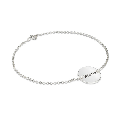 Engraved Bracelet / Anklet with Personalised Disc
