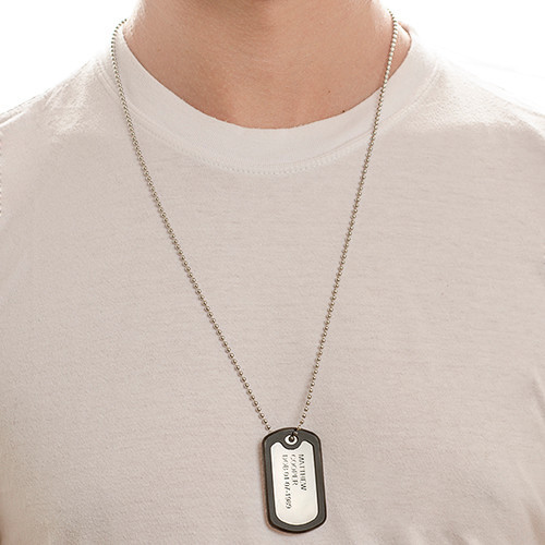 Engraved Dog Tag Necklace - 2