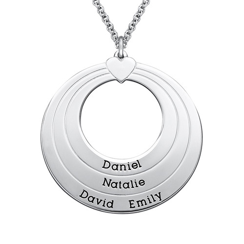 Engraved Family Circle Necklace