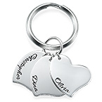 Engraved Heart Charm Keychain