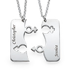 Engraved His and Hers Necklace for Couples