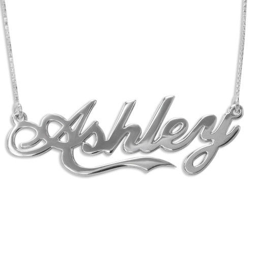 "Extra Thick ""Coca Cola"" Font Name Necklace"