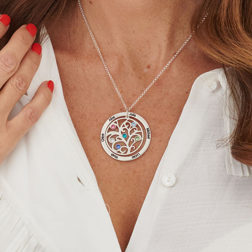 Family Tree Birthstone Necklace - 1