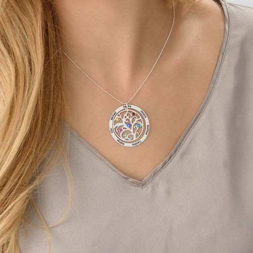 Family Tree Birthstone Necklace - 2