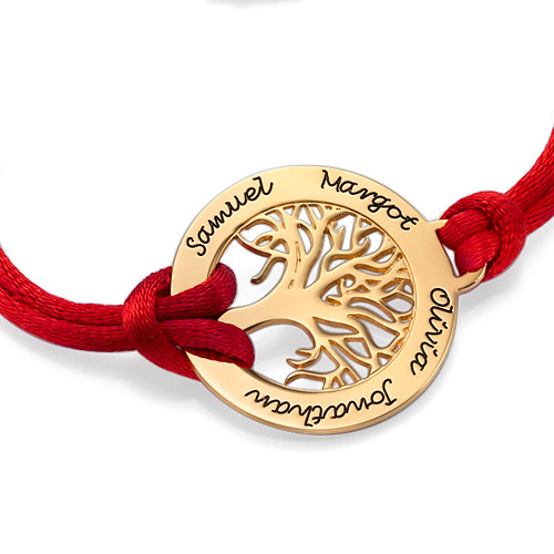 Family Tree Bracelet in 18ct Gold Plating - 1