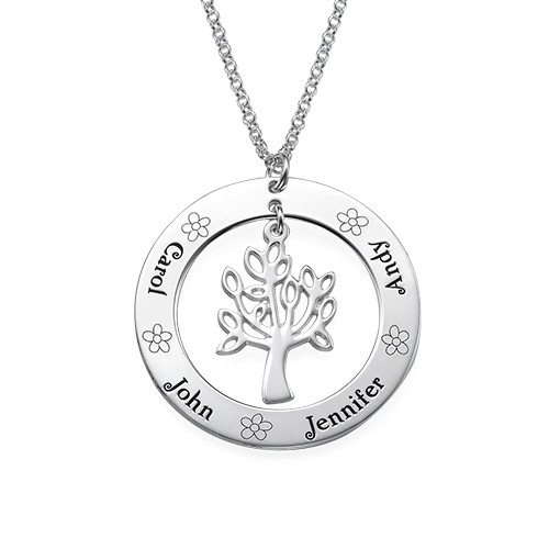 Family Tree Jewellery - Engraved Disc Necklace