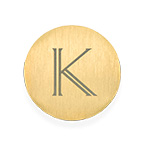 Floating Locket Plate - Gold Plated Disc with Initial