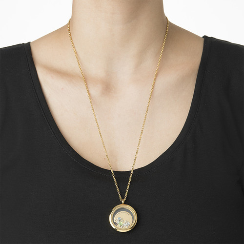 Floating Locket for Mum with Children Charms - Gold Plated - 2