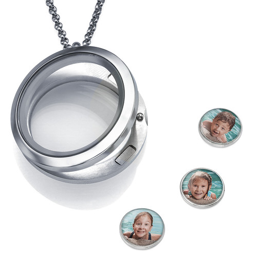 Floating Locket with Photo Charms - 1