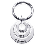 Gift for Mum - Three Disc Engraved Keychain