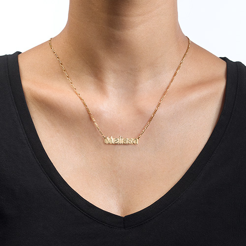 Gold Plated Nameplate Necklace - 1