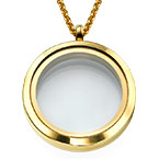Gold Plated Round Locket Necklace