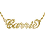 Carrie Style Personalised 14ct Gold Name Necklace