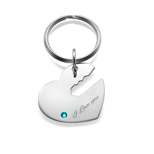 Heart and Key Keyring for Couples - 1