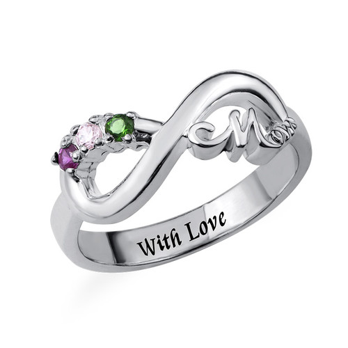 Infinity Mum Ring with Inner Engraving