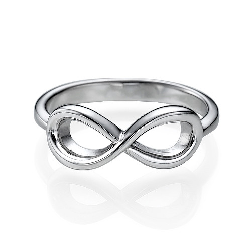 Infinity Ring in Sterling Silver - 1