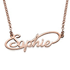Infinity Style Name Necklace with 18ct Rose Gold Plated