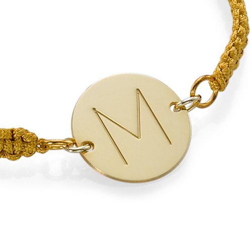 Initial Disc Bracelet in Gold Plating - 1