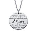 Inspirational Engraved Mum Necklace
