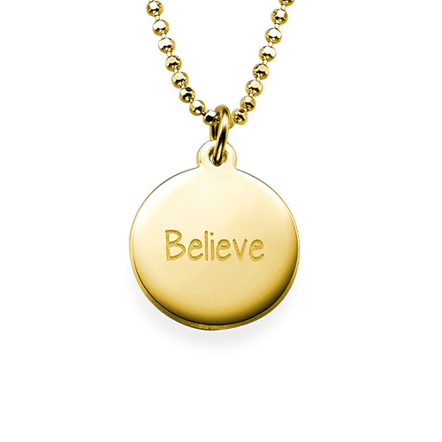 "Inspirational Gifts - ""Believe"" Necklace GP"