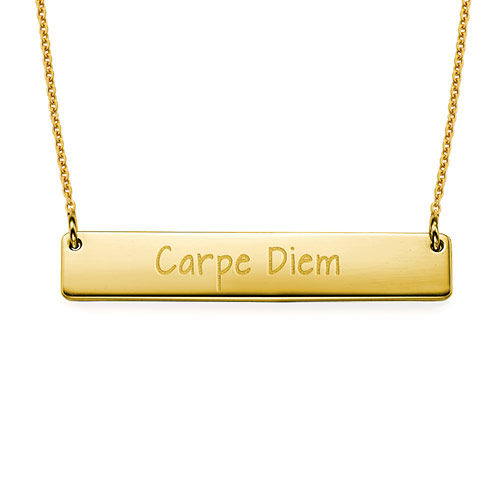 "Inspirational Jewellery - ""Carpe Diem"" Bar Necklace GP"