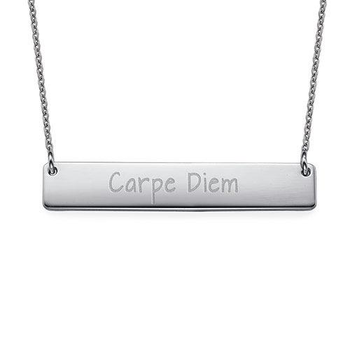 "Inspirational Jewellery - ""Carpe Diem"" Bar Necklace"