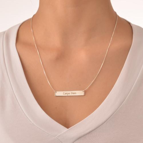 "Inspirational Jewellery - ""Carpe Diem"" Bar Necklace - 1"