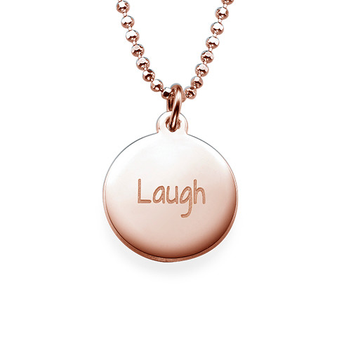 "Inspirational Jewellery - ""Laugh"" Necklace RGP"