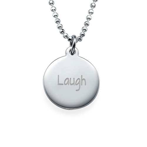 "Inspirational Jewellery - ""Laugh"" Necklace Silver"