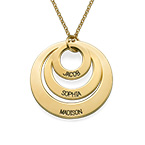 Jewellery for Mums - Three Disc Necklace in 18ct Gold Plating