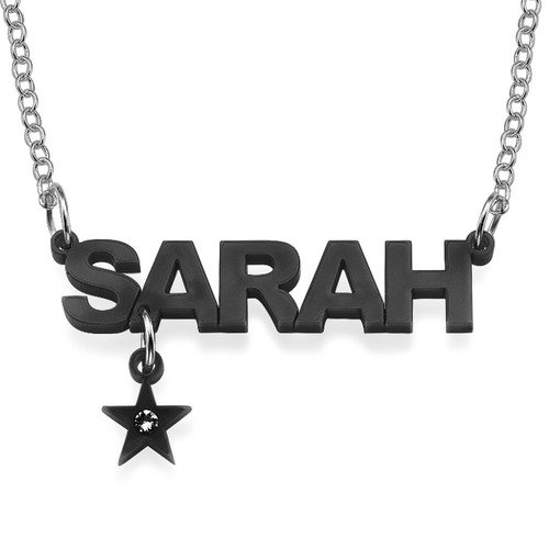 L.A. Style Acrylic Name Necklace with Charm