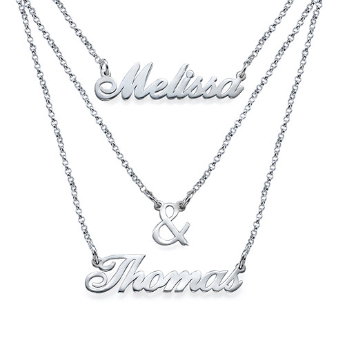 Layered Name Necklace in Sterling Silver - 2