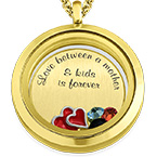 Love My Children Floating Locket with Gold Plating
