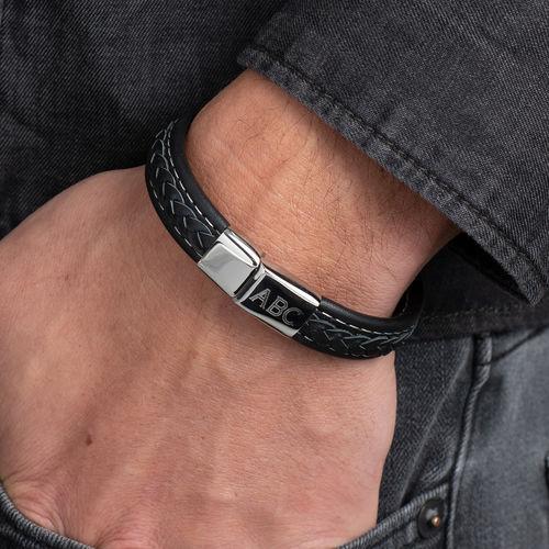 Men's Bracelet with Initials - 3