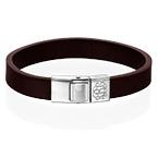Men's Leather Bracelet with Monogram