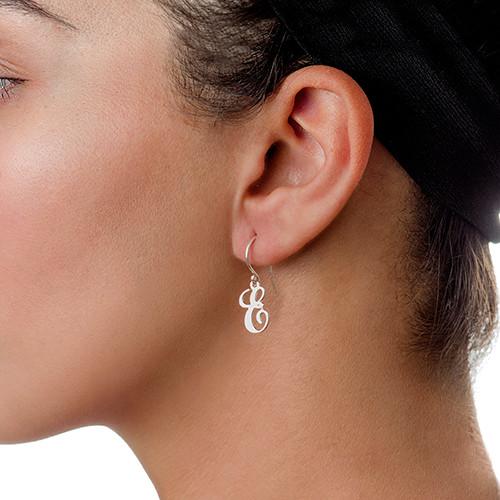 Monogram Initial Dangle Earrings - 1