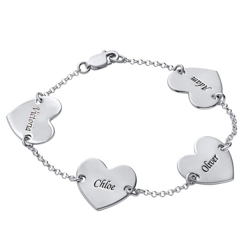 Multiple Heart Bracelet with Engraving - 2