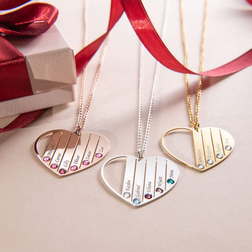 Mum Birthstone necklace in Gold Plating - 3
