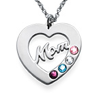 Mum Necklace with Birthstones