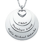 Mum Necklace with Three Personalised Discs